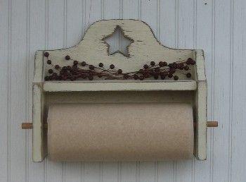 Country Primitive Kitchen & Bathroom Decor - Paper Towel Holders ...