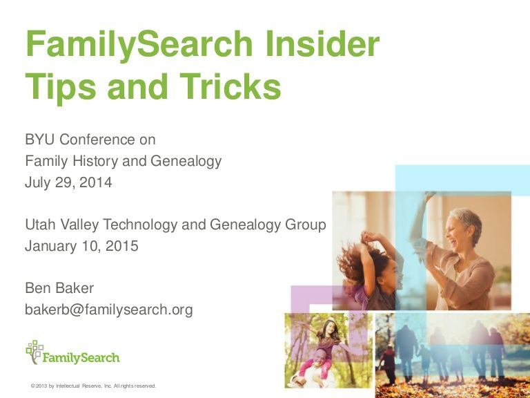 There are many powerful tools available on FamilySearch.org.  Many features of these tools are not well documented in manuals or easily discovered in the produ…