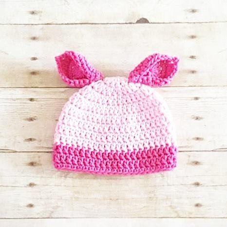 Crochet Baby Piglet Pig Winnie The Pooh Hat Beanie Handmade ...