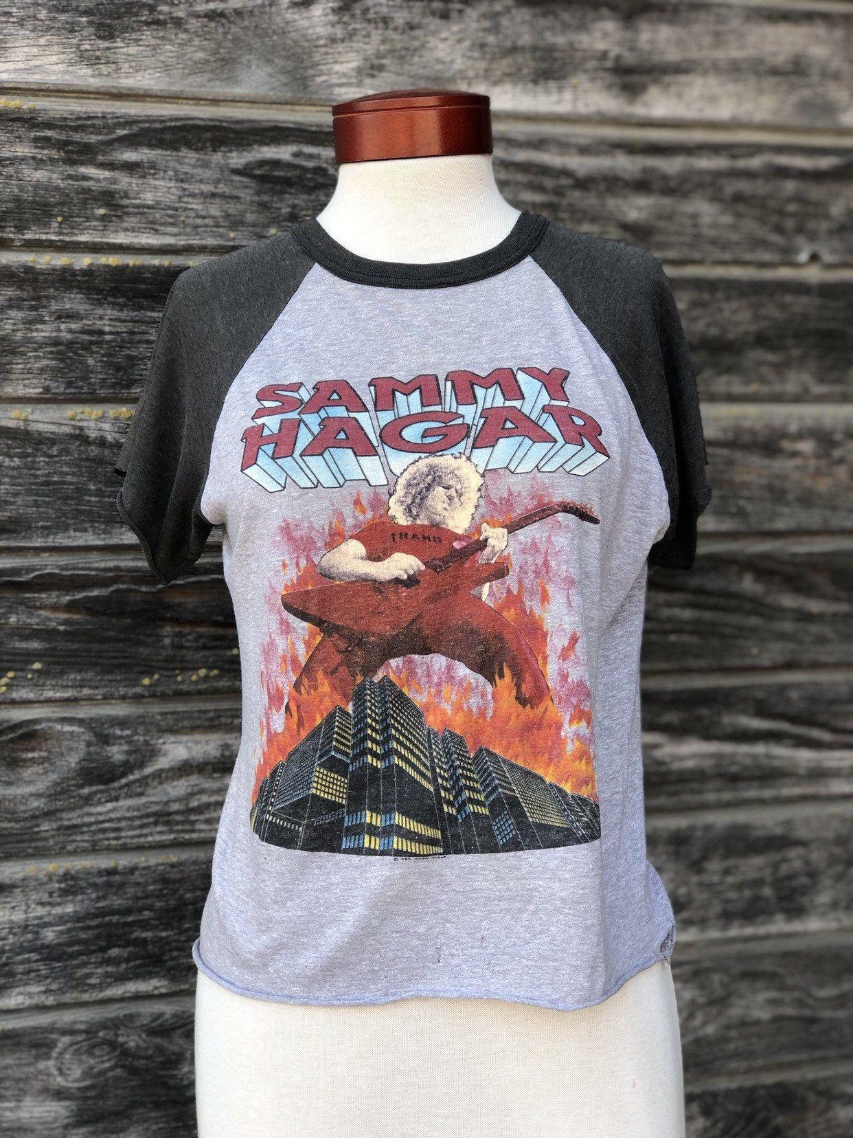 Vintage Sammy Hagar Concert T Shirt The Red Rocker Tour Shirt Etsy In 2020 Concert Tshirts Tour Shirt Red Rocker