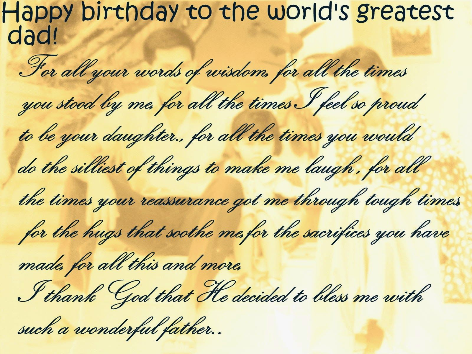 Happy Birthday Dad Quotes For Facebook New World Of Fun Happy