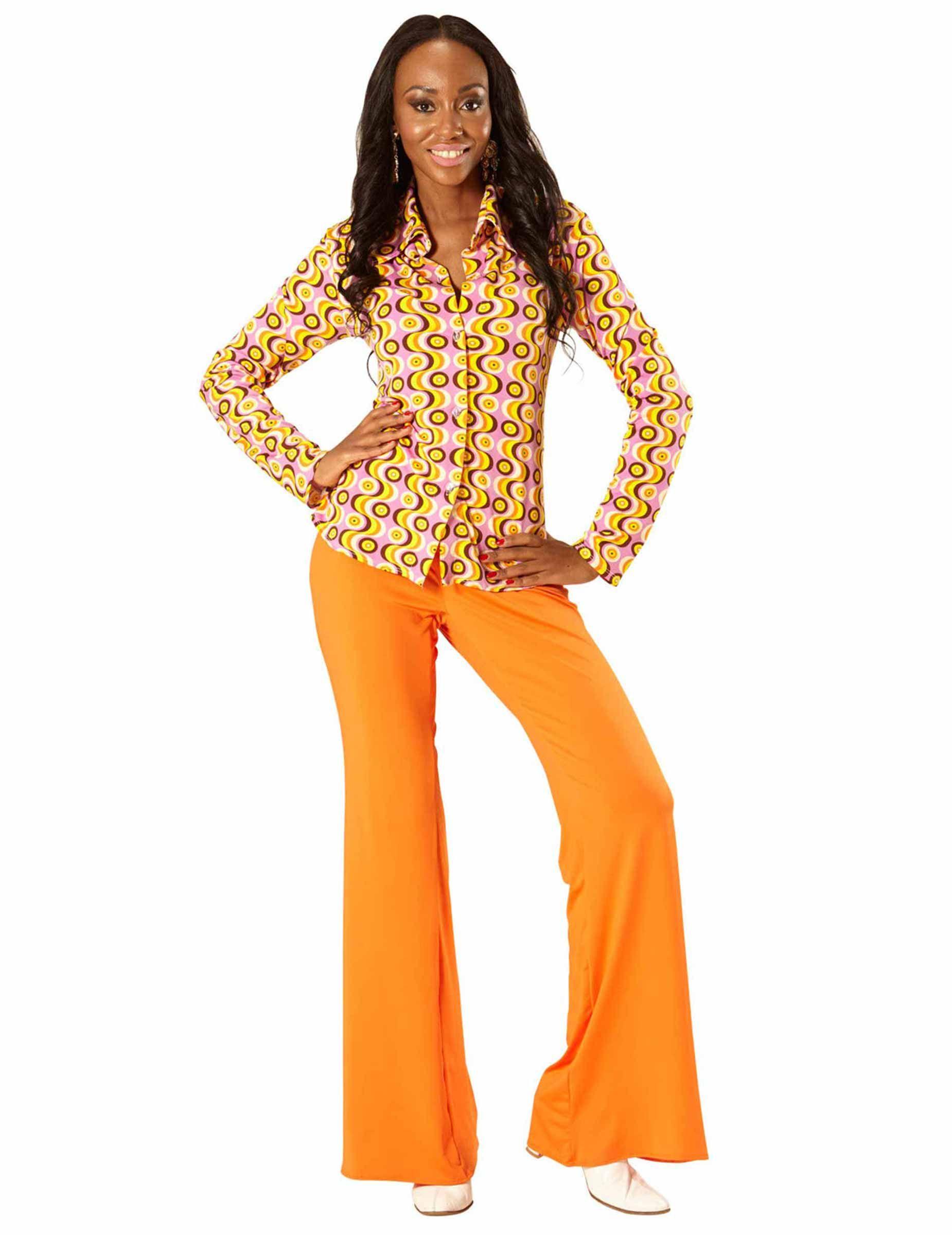 12c577e4fea87 Disco 70er Jahre Shirt bunt in 2019 | Fasching | Hippie bluse ...