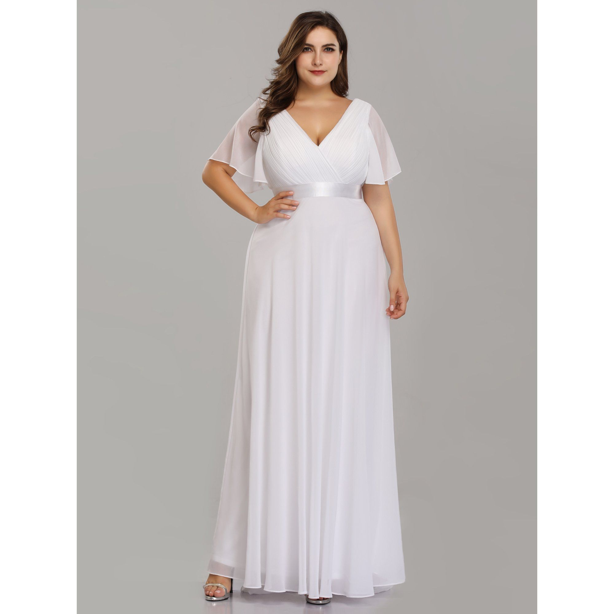Ever Pretty Ever Pretty Womens Chiffon Holiday Christmas Party Dresses For Women 98902 White Us14 Walmart Com In 2021 White Evening Gowns Empire Waist Evening Dress Chiffon Evening Dresses [ 2000 x 2000 Pixel ]