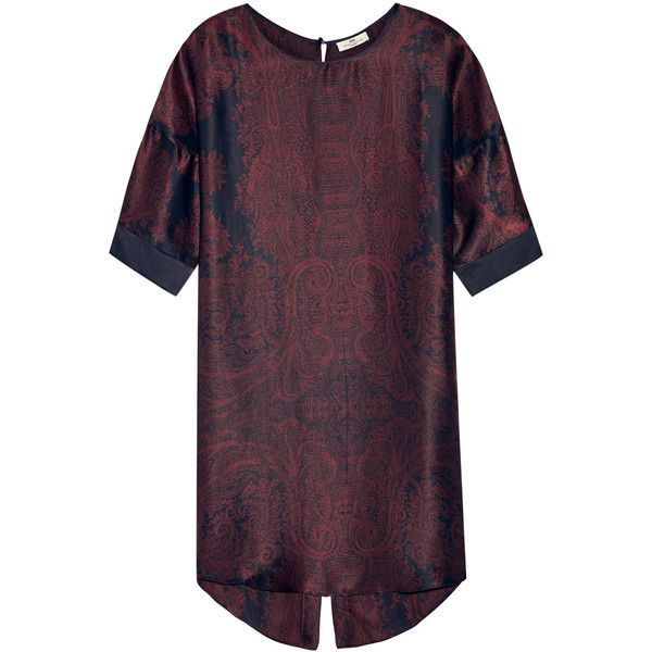 DAY Birger et Mikkelsen Day Tour printed silk-satin mini dress (5.605.085 IDR) ❤ liked on Polyvore