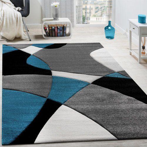 Beige Brown Rug Large Geometric Pattern Contour Cut Thick Mat Living Room Carpet