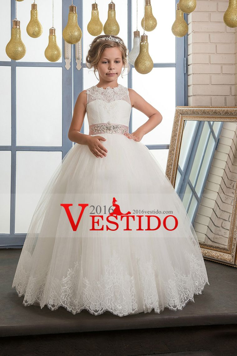 522d0a42f 2017 vestidos de flores niña vestido de fiesta cucharada de tul con  aplicaciones y rebordear la