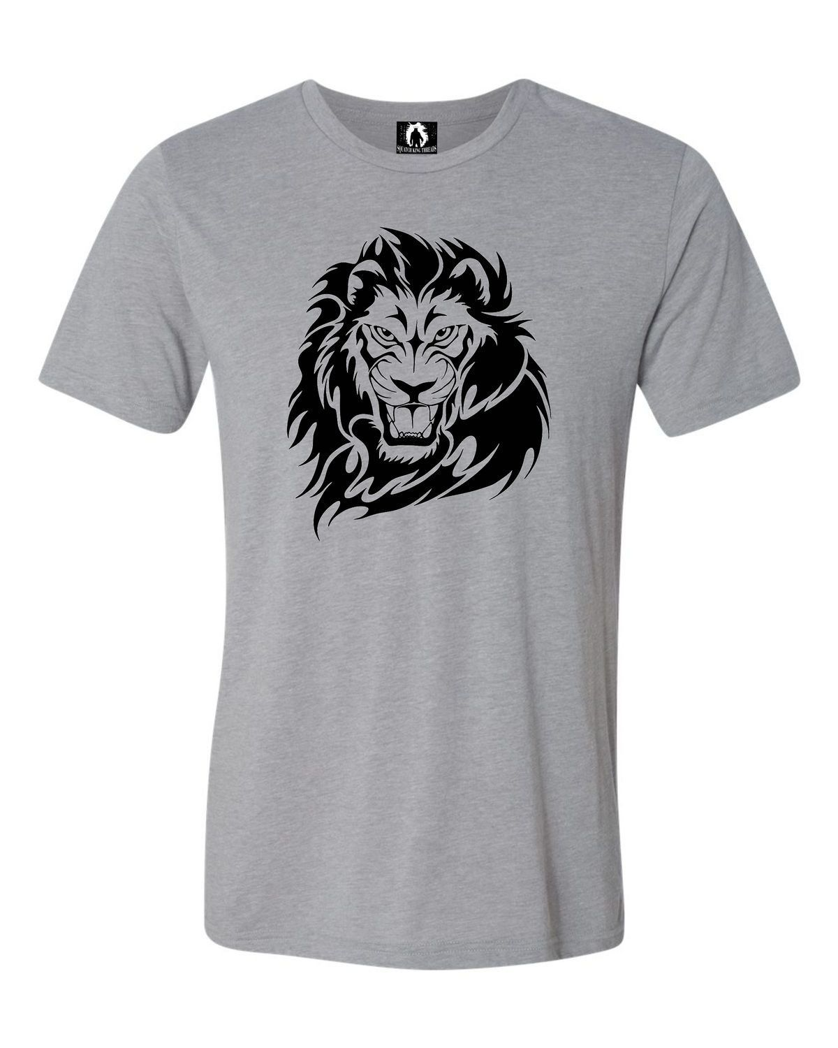 Adult Abstract Lion Triblend T-Shirt