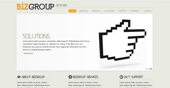 Biz Group - Simple corporate CSS/XHTML template ready to meet wide ...