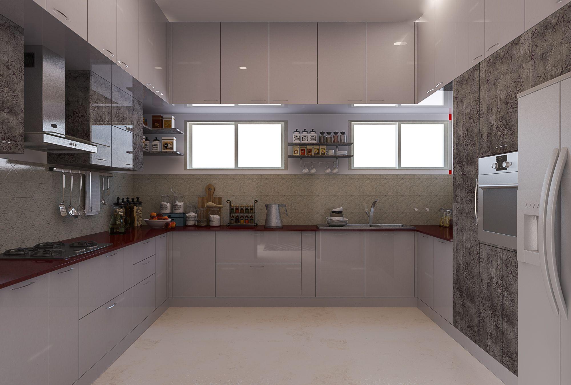 Modular Kitchen Bonito Designs Glossy Kitchen Kitchen Design Best Interior Design