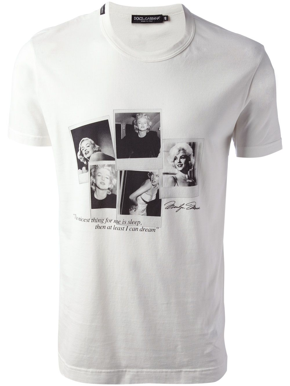 3c1615a4 Dolce & gabbana Marilyn Monroe T-shirt in White for Men | Lyst ...