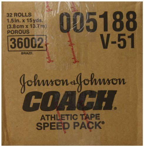 Johnson And Johnson Consumer Coach Porous Athletic Tape 1 1 2 X 15 Yds Model 5188 Case Of 32 Categorization Bandages Johnson And Johnson Athletic Coach