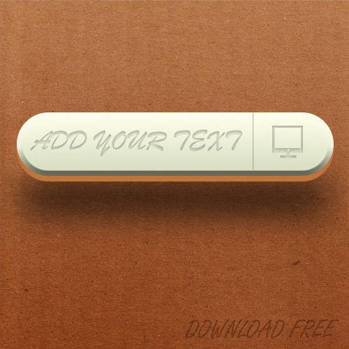 Овальная кнопка для сайта и фотошопа 3D - PSD Кнопки