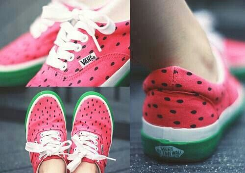 Cool watermelon shoes