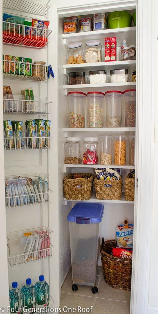 Ordinaire How To Create An Organized Kitchen Pantry Closet By Adding Floating  Shelves, Plastic Food Storage