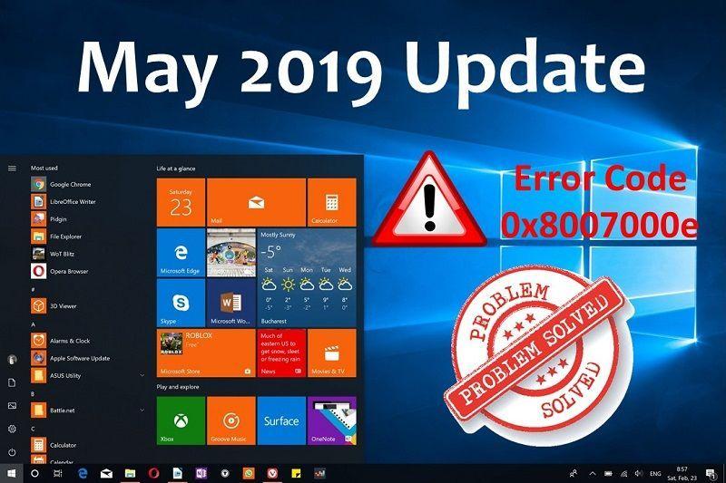 9 Solution To Fix Windows 10 Feature Update Error Code 0x8007000e