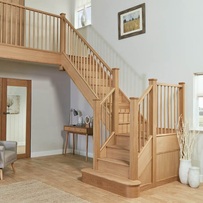 Best Slim Oak Spindle Staircase In 2020 Staircase Design 640 x 480