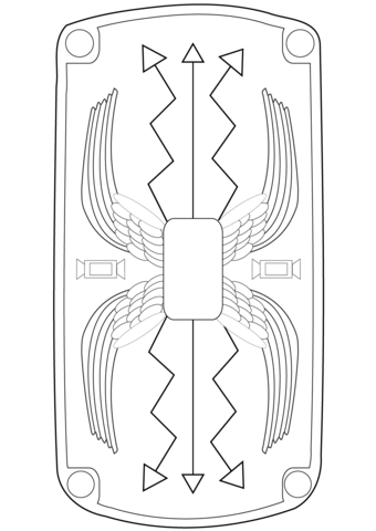 roman shield coloring page from ancient rome and roman empire