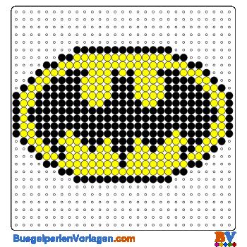 Batman Logo Bugelperlen Vorlage Auf Buegelperlenvorlagen Com Kannst