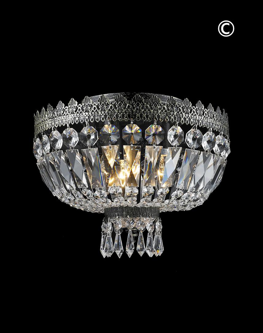 Royal french basket chandelier flush mount antique silver w royal french basket chandelier flush mount antique silver w30cm arubaitofo Choice Image