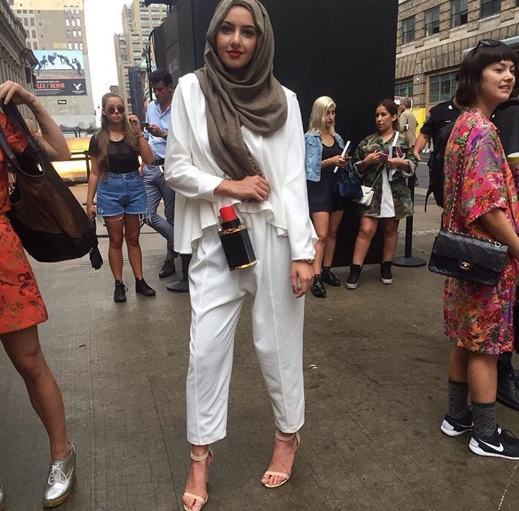 Hijab + White After Labor Day (Summer Albarcha)