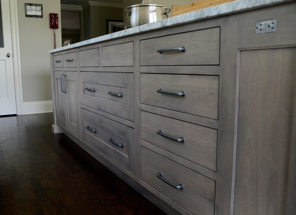 Image Result For Grey Stained Cabinets