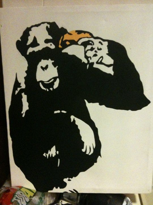 Banksy out of time wall art stencil,Strong,Reusable,Recyclable