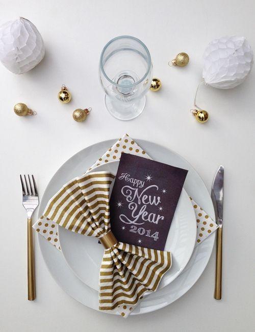 25 Silvester Party Tisch Dekor Ideen | Diyundhaus.com #silvesterdekotisch