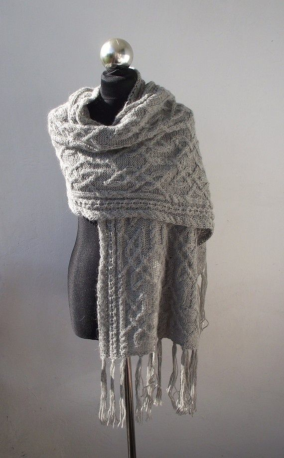 Cloudy Morning shawl with celtic cable pattern. | Crafts | Pinterest ...