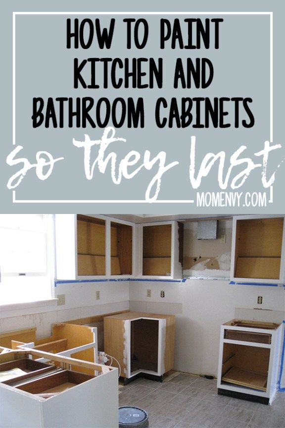 How to Paint Kitchen Cabinets so They Last This Method Works
