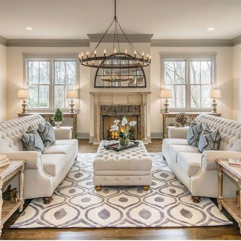 38+ Wonderful French Country Living Room Decor Ideas images