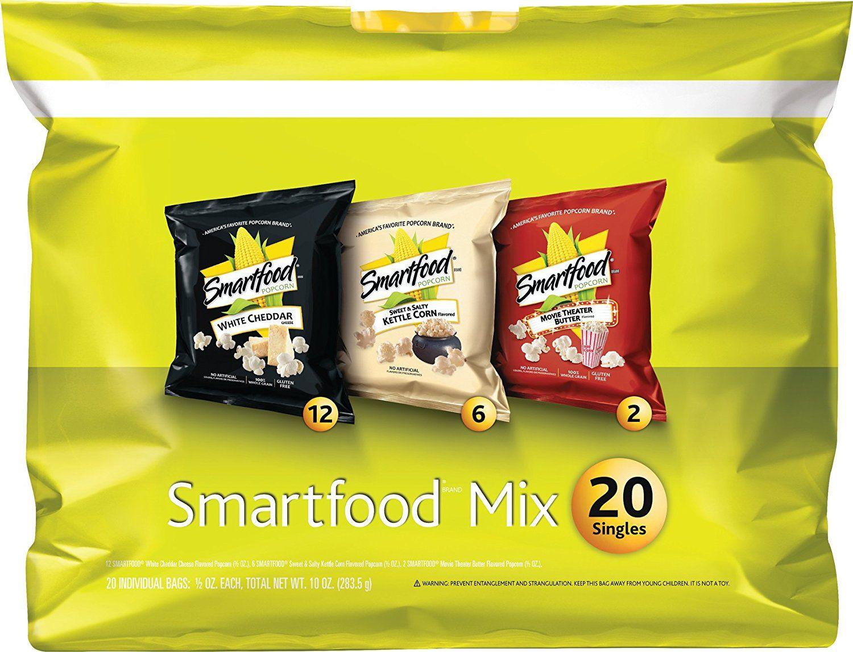 Amazon Com Smartfood Popcorn Variety Pack 20 Count Prime Pantry Smartfood Popcorn Healthy School Snacks Easy Popcorn