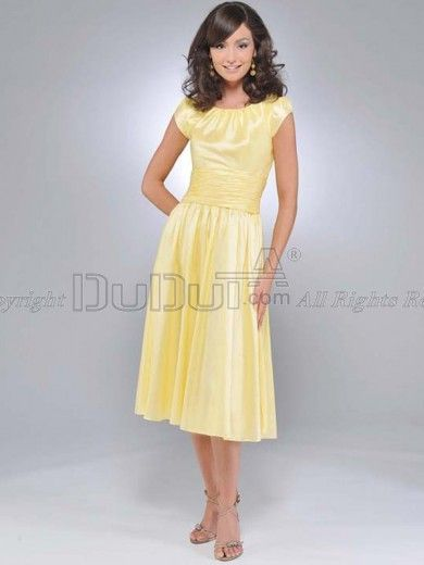Yellow dress for sister