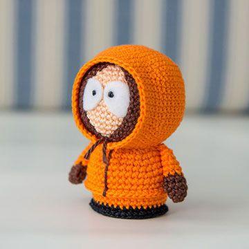 South park Kenny amigurumi crochet pattern by AradiyaToys A acheter dans amigurumipaterns.net