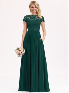 Photo of [€ 116.00] Flared cut Round neck Floor-length Moussel …