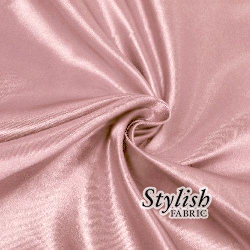 Dusty Pink Bridal Wedding Satin Fabric by the yard for Bridesmaid ...