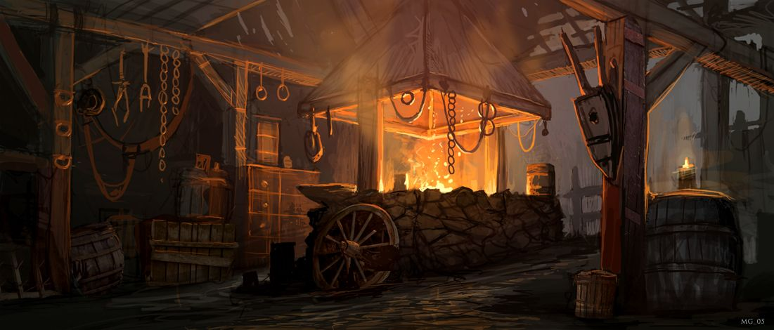 Fantasy Concept Art Blacksmith