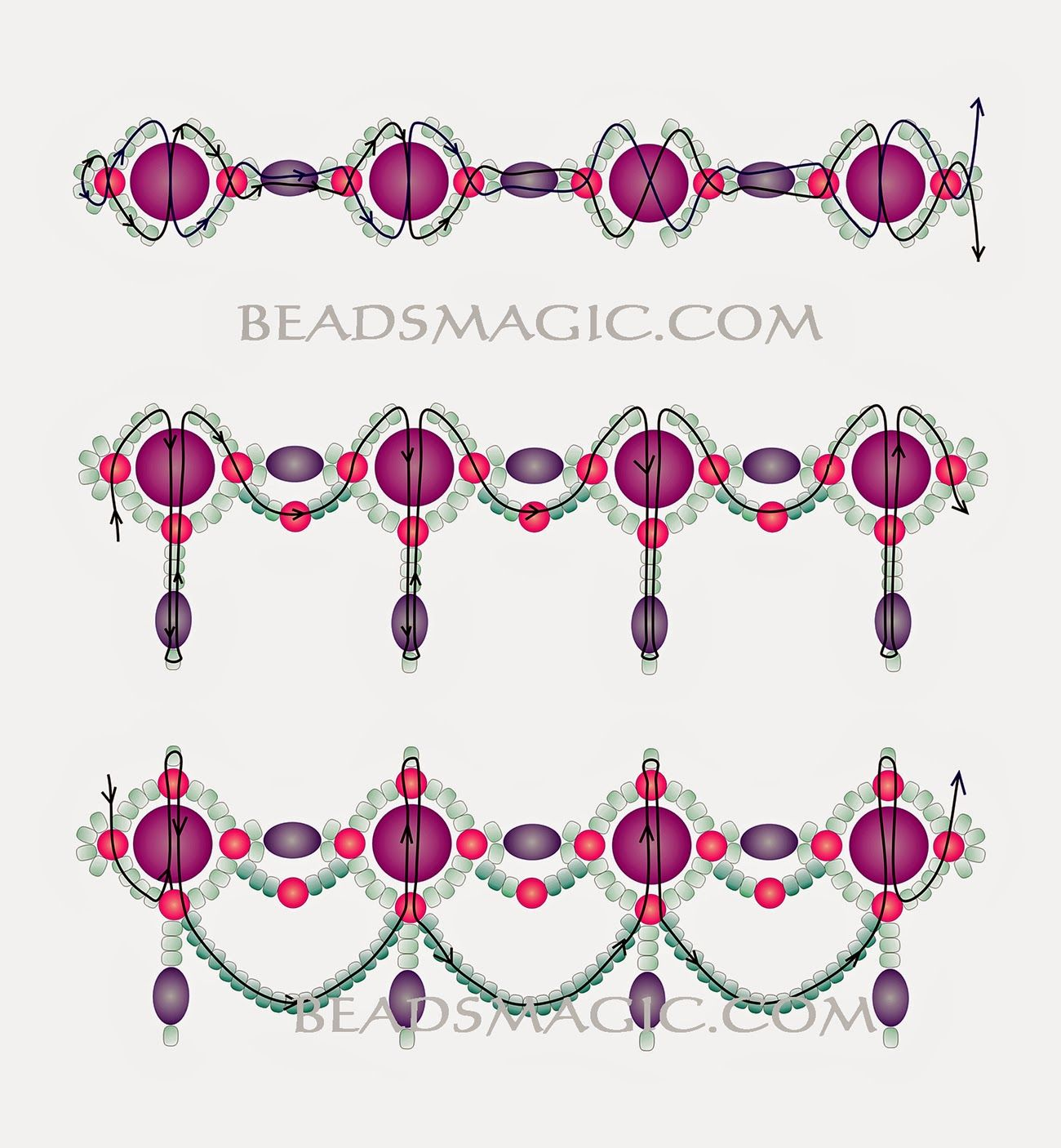 Knitting And Beading Wedding Bridal Accessories and Free pattern ...