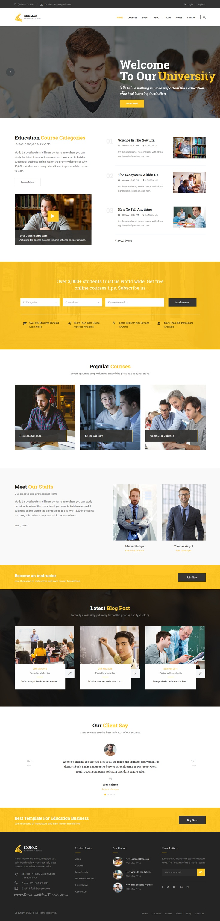 EduMax is perfect #Bootstrap HTML Template for #Education & online ...
