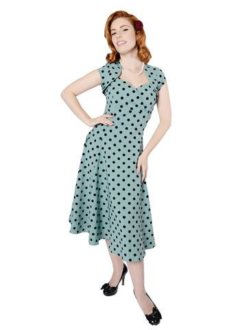 Collectif 'Regina' Doll polka dot swing dress