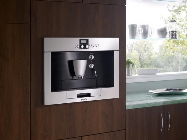 Installed In A Cabinet Wall Built Coffee Makers Grind Brew And Serve Hot Or Espresso With The Touch Of On Most Also Feature Frothing