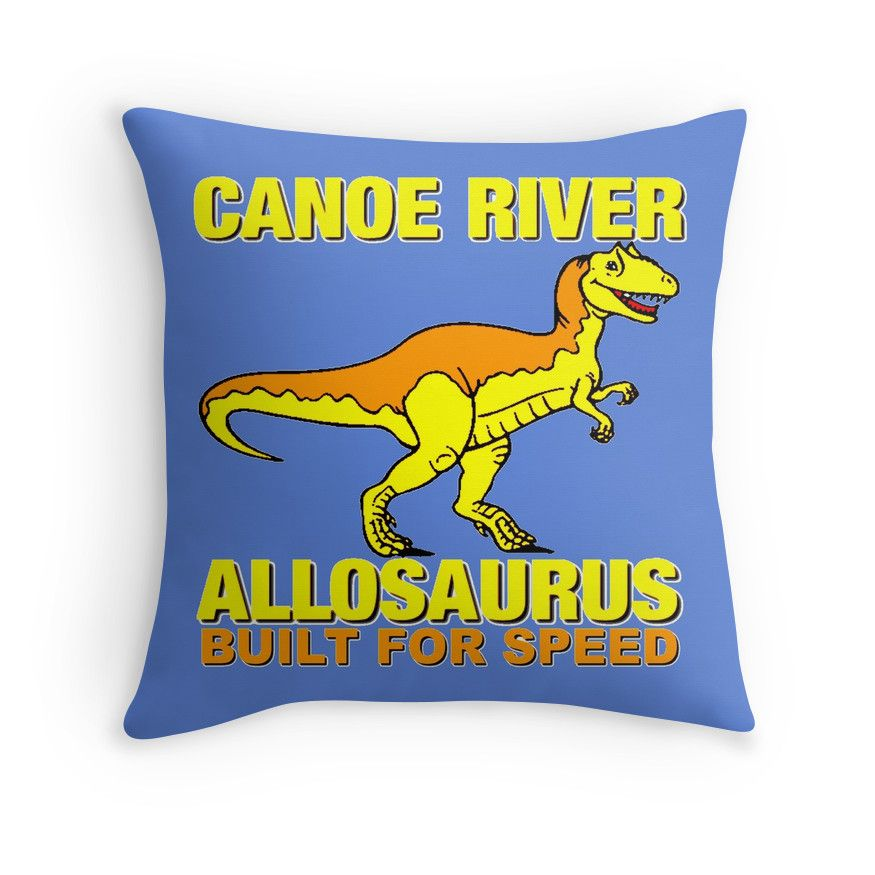 """ALLOSAURUS"" Throw Pillows by IMPACTEES 
