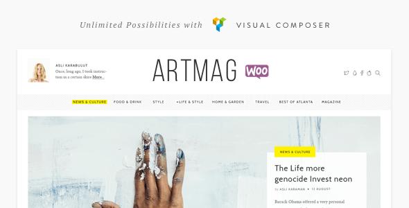 Artmag v1.3.1 - Magazine / Shop WordPress Theme - https ...
