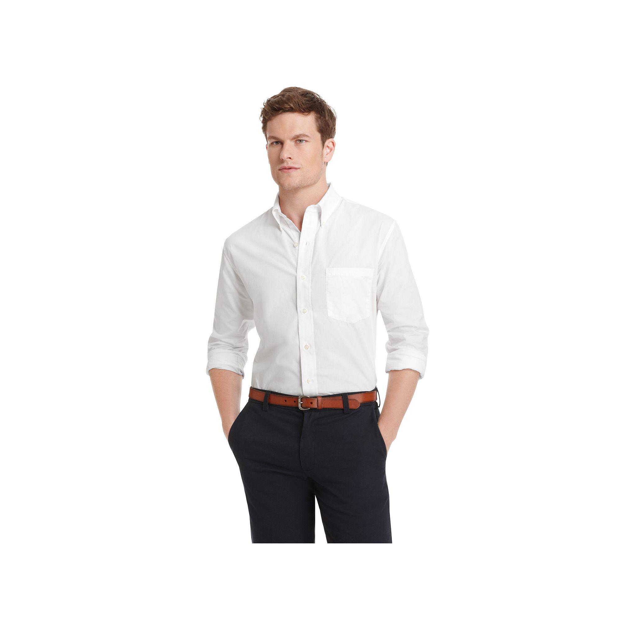 dd9eeb5d0c69 Men s IZOD Basic Essential Button-Down Shirt