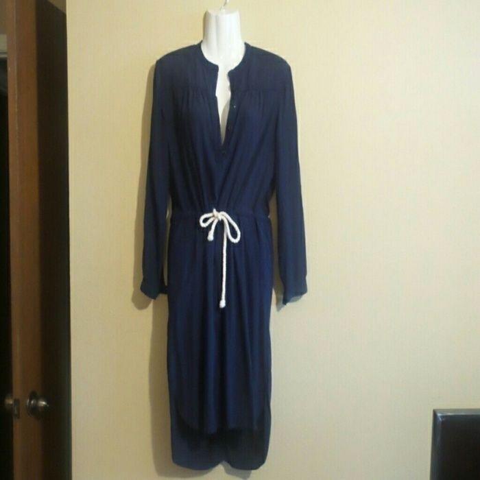 Bundle: Jcrew navy high low dress XXS/cardigan
