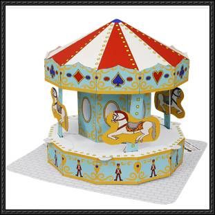 Canon Papercraft - Amusement Park (Merry-go-round) Free