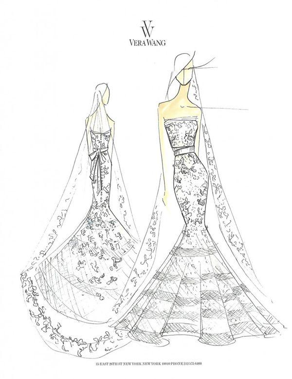 Verawang Wedding Gown Sketch