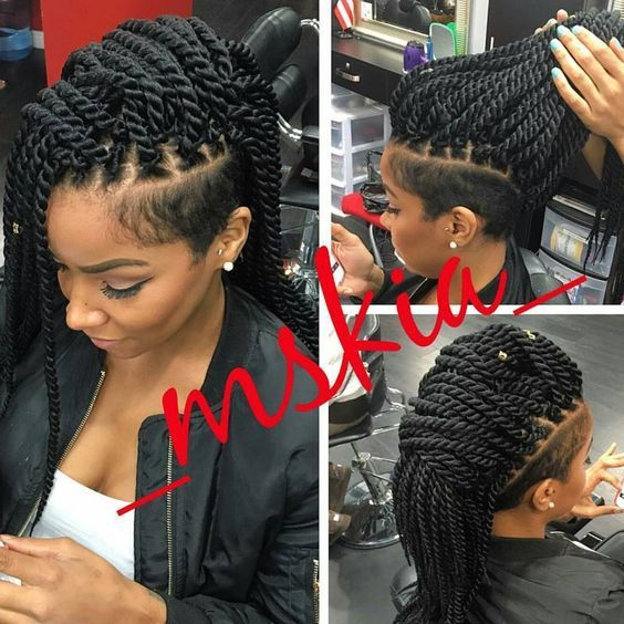 Twists Shaved Side Hairstyles