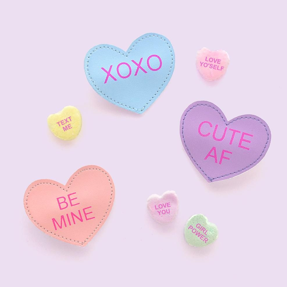 Conversation heart clip in 2019 kids accessories