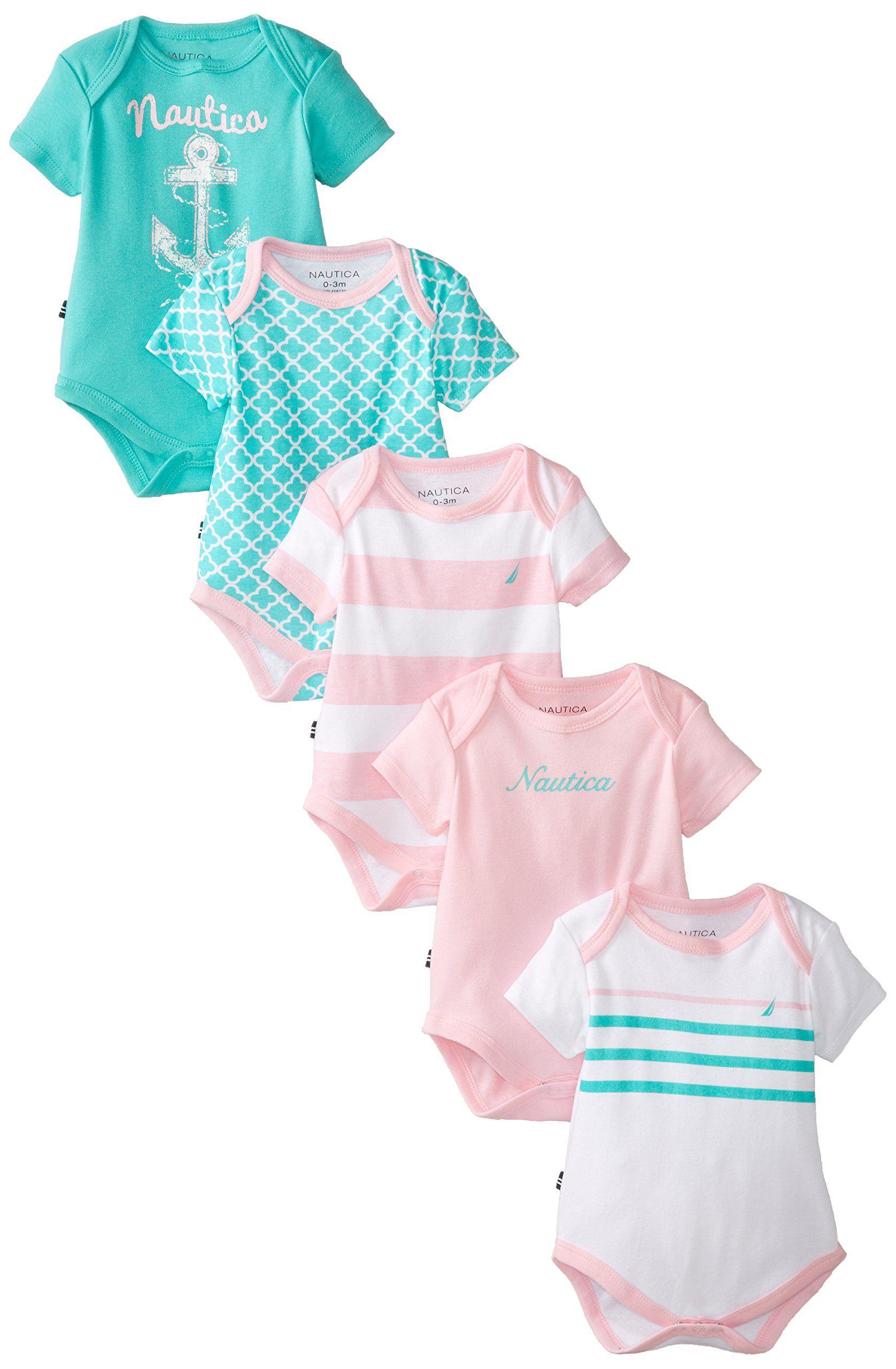 Amazon.com: Nautica Baby-Girls Newborn 5 Pack Assorted Baby Girl