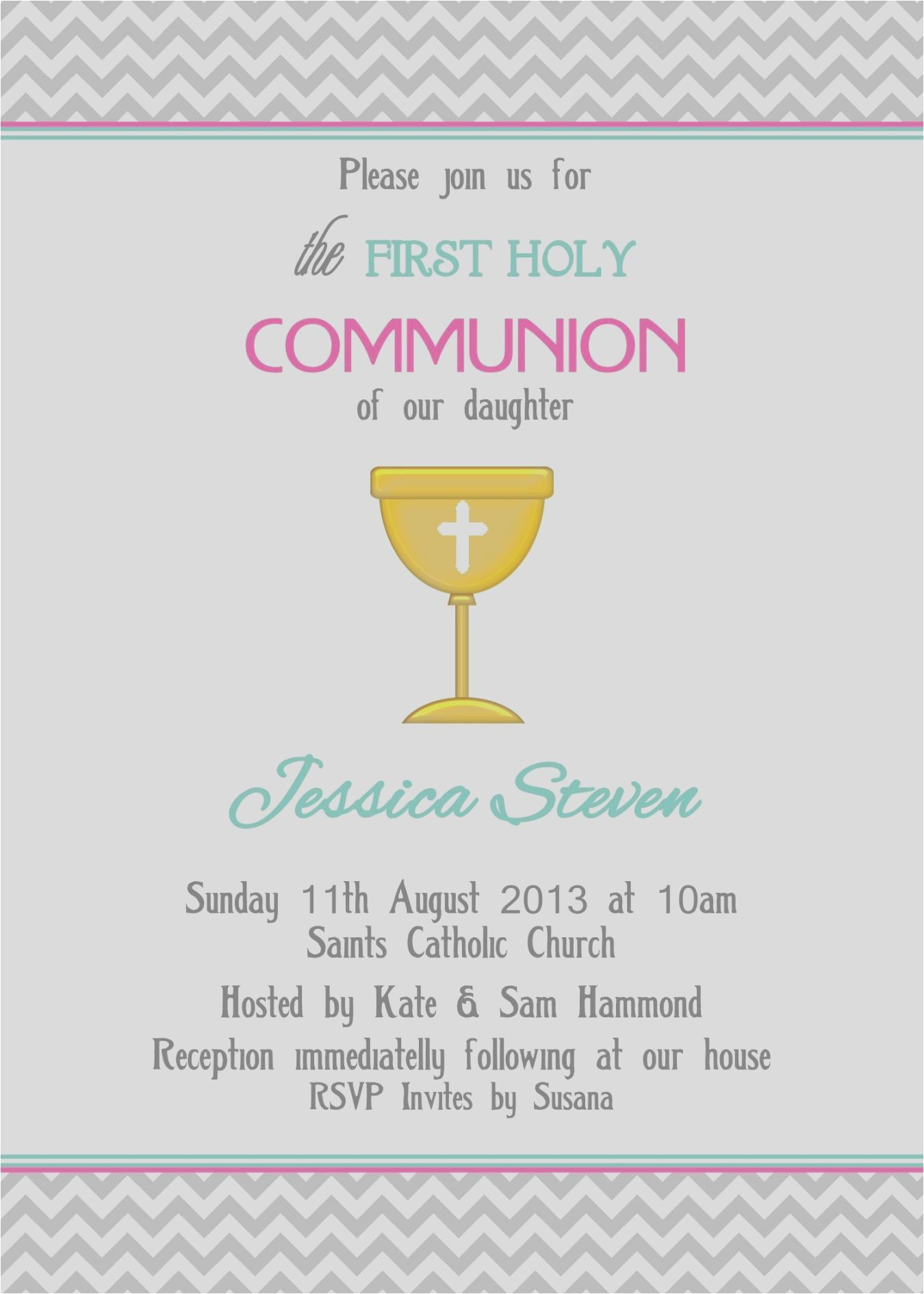 First Communion Invitations 55 Representations Easter Church